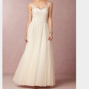 BHLDN Watters Wedding Gown-Lucca Maxi Ivory